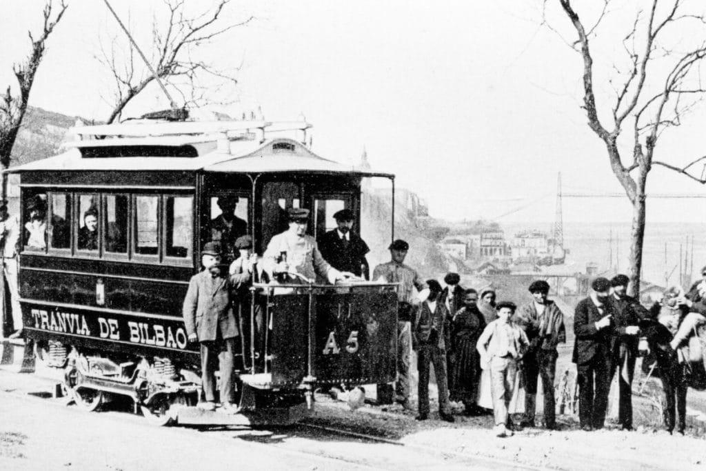 Se cumplen 125 años del primer tranvía eléctrico, el de Bilbao a Santurtzi