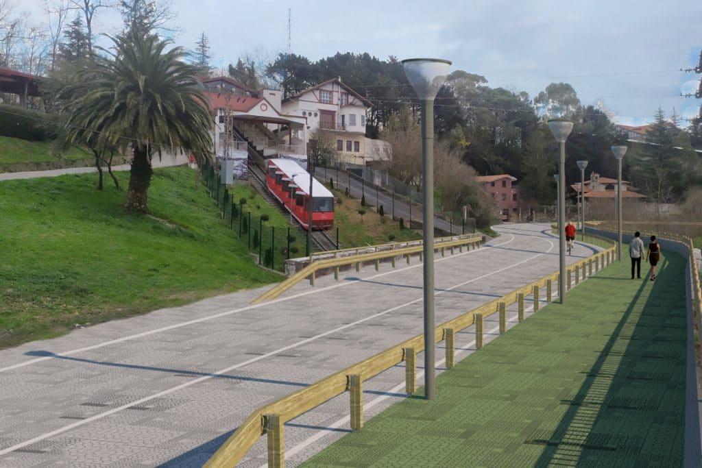 El Mirador de Artxanda tendrá un paseo de cornisa de seis kilómetros sobre Bilbao