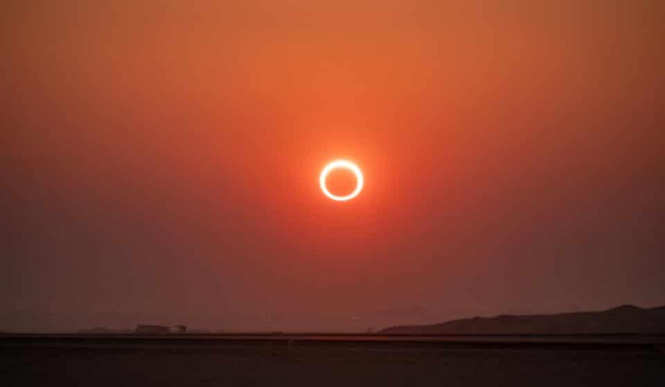 Así es el eclipse anular de Sol que se podrá ver este jueves en Bilbao