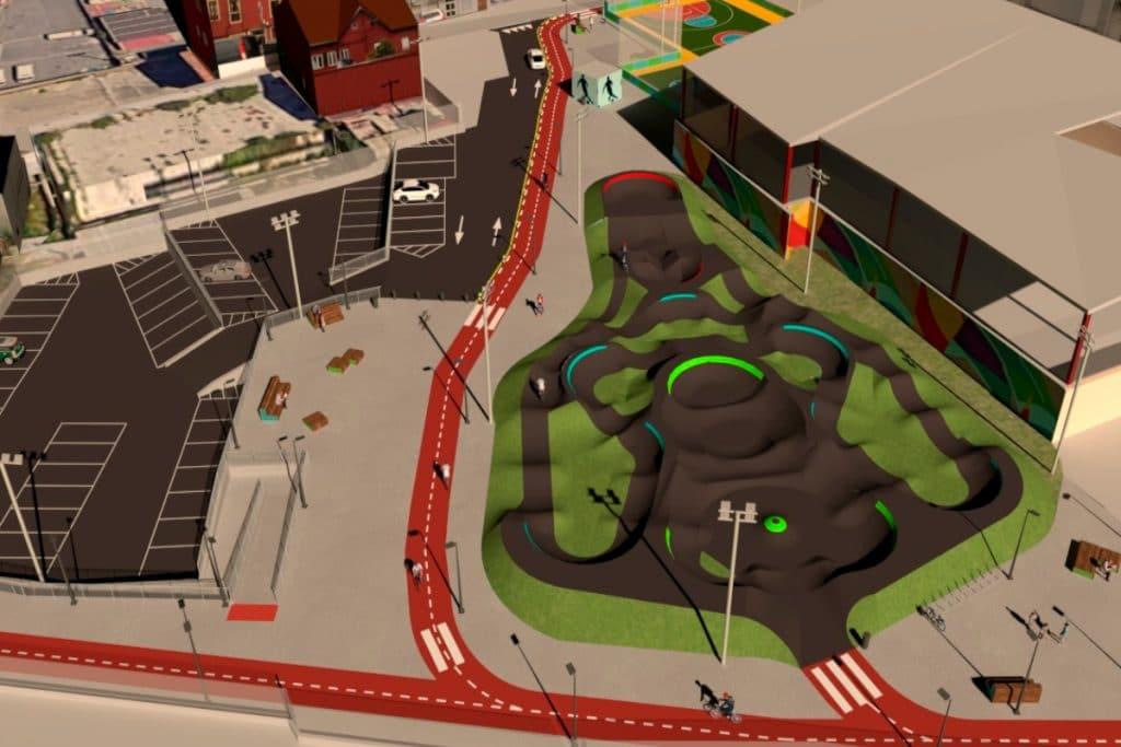El Ayuntamiento da vida a Punta Zorrotza con el primer Pump Track de Bilbao
