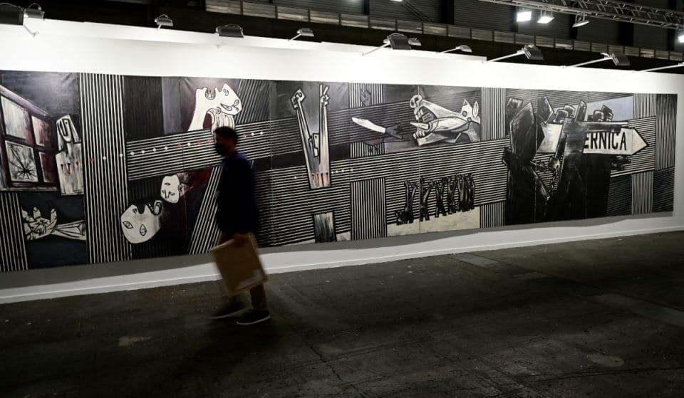 El «Guernica» de Ibarrola ya está en el Museo de Bellas Artes de Bilbao