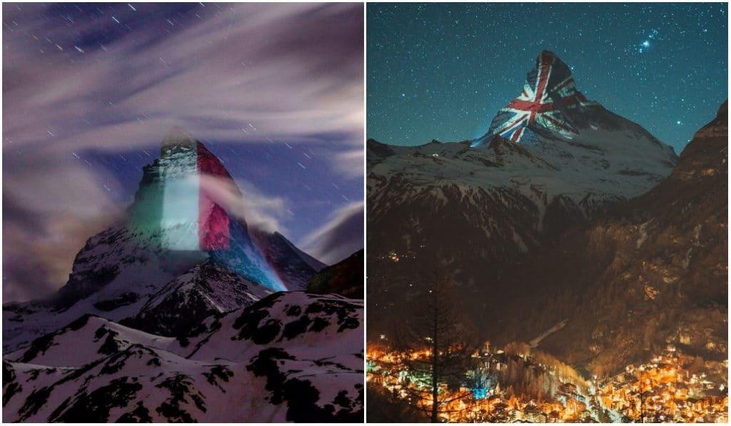 Coronavirus : une montagne suisse s'illumine en soutien aux pays impactés