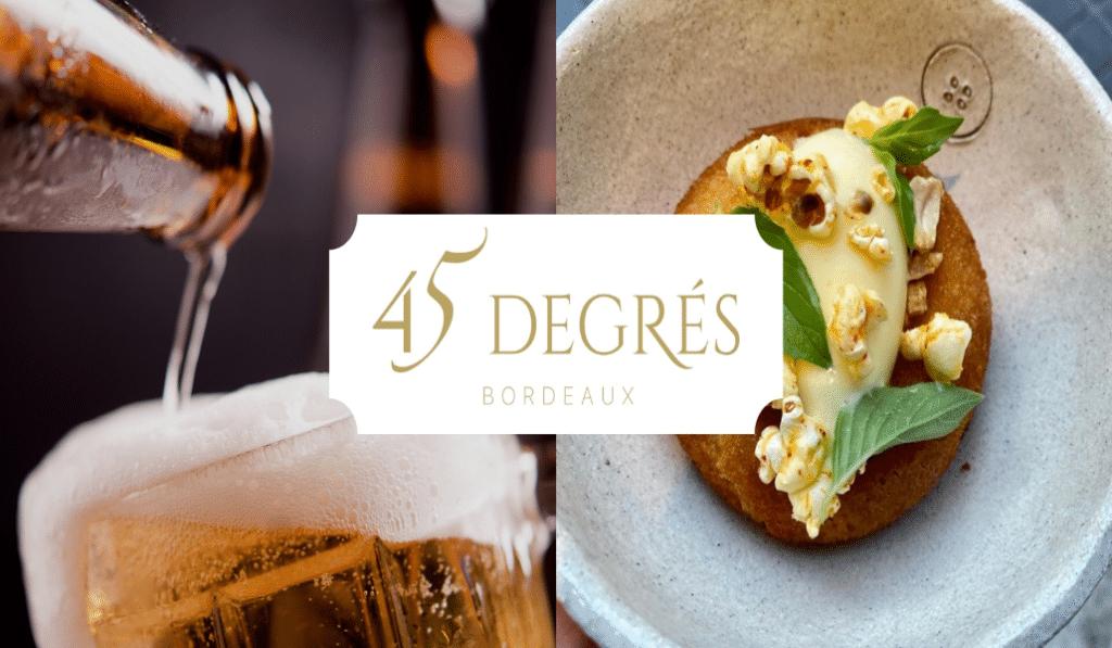 45 degrés : le restaurant biéronomique éphémère de Bordeaux !