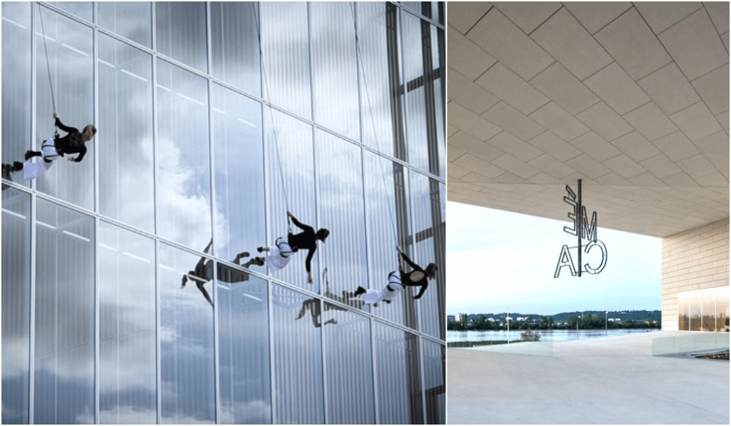 Tango Nomade investit les façades de la MÉCA pour un ballet aérien renversant !