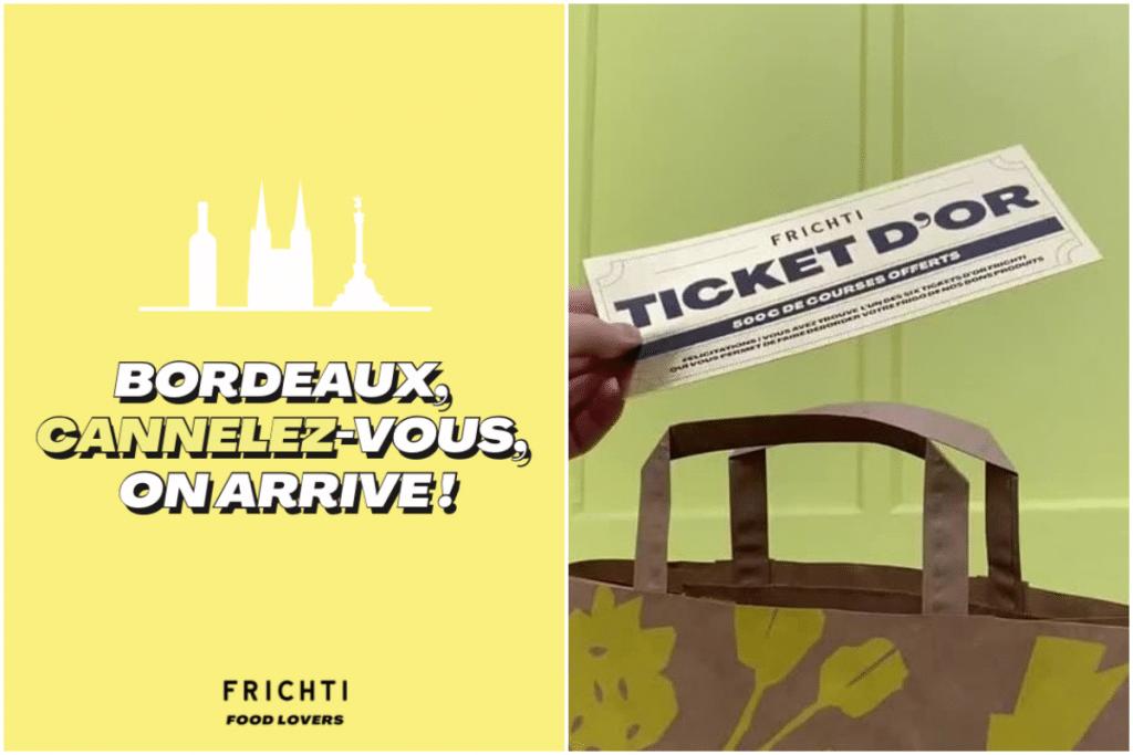 Pour fêter son ouverture, le Frichti glisse des tickets d'or de 500 euros dans les commandes !
