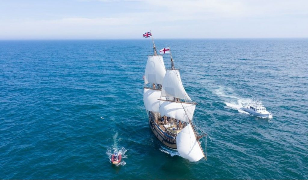 Mayflower Returns To Plymouth