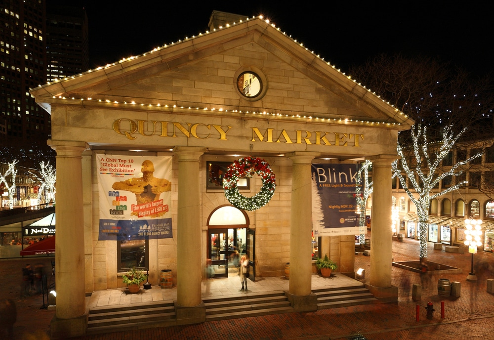 Faneuil Hall Has Canceled It's Popular Christmas Light Show This Year
