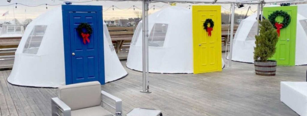 Dine Inside A Whimsical Holiday Igloo By The Water At This Restaurant Just Outside Boston