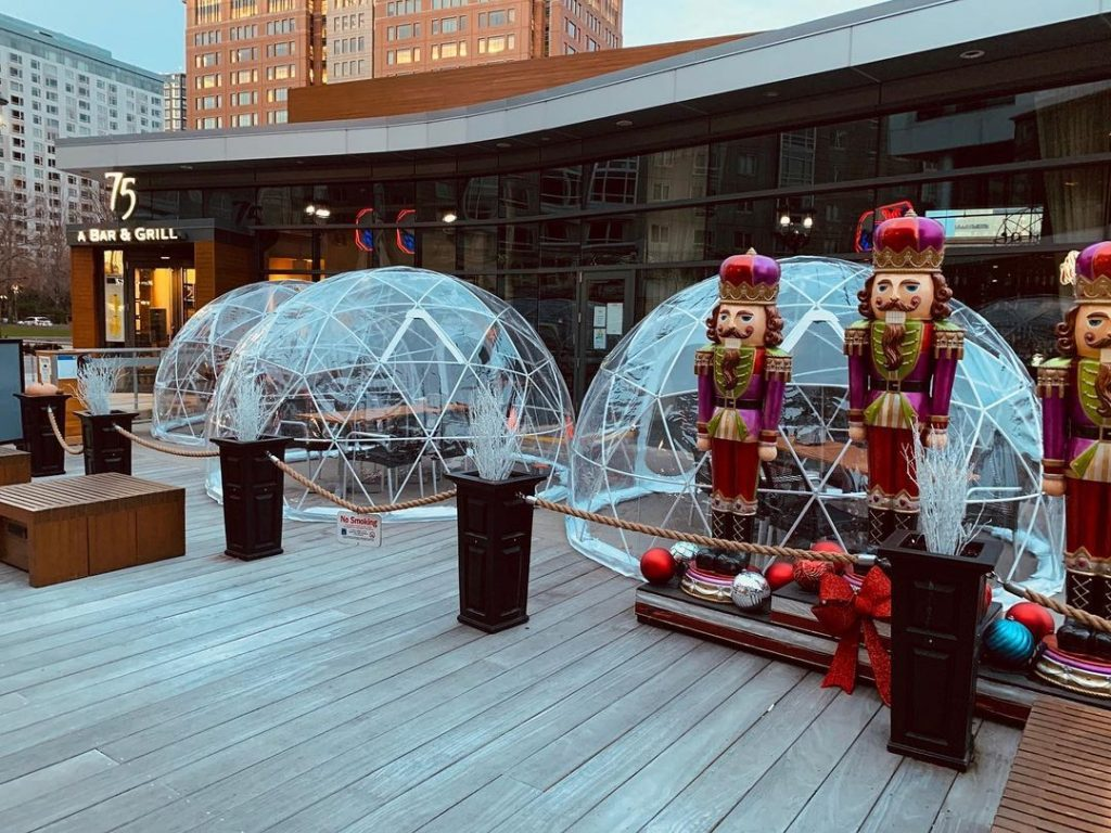This Seaport Restaurant Has A Stylish Igloo Village That's Perfect For Outdoor Dining