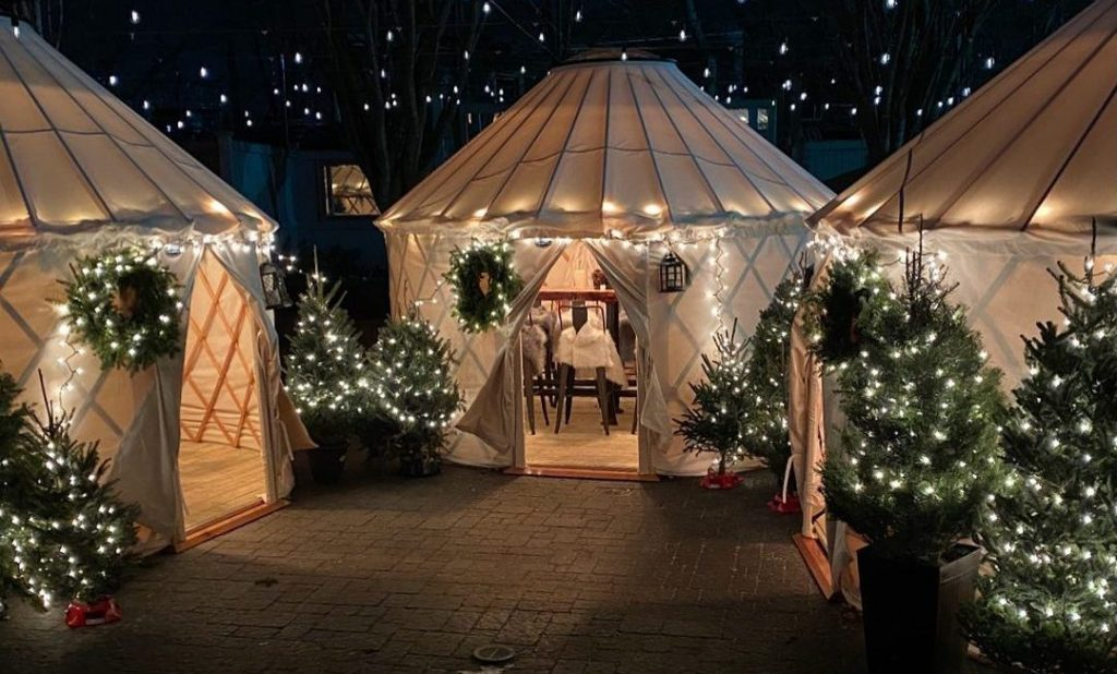 You Can Now Dine Inside A Dazzling Yurt At This Dorchester Bar