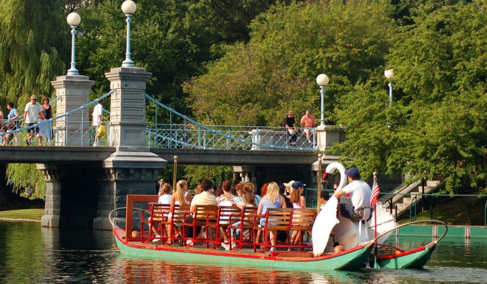 Boston's Iconic Swan Boats Are Returning To The Public Garden Lagoon Today!
