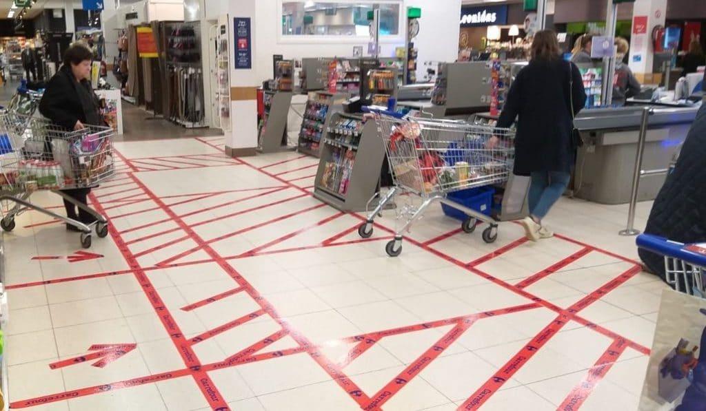 Coronavirus : de nouvelles mesures mises en place dans les supermarchés