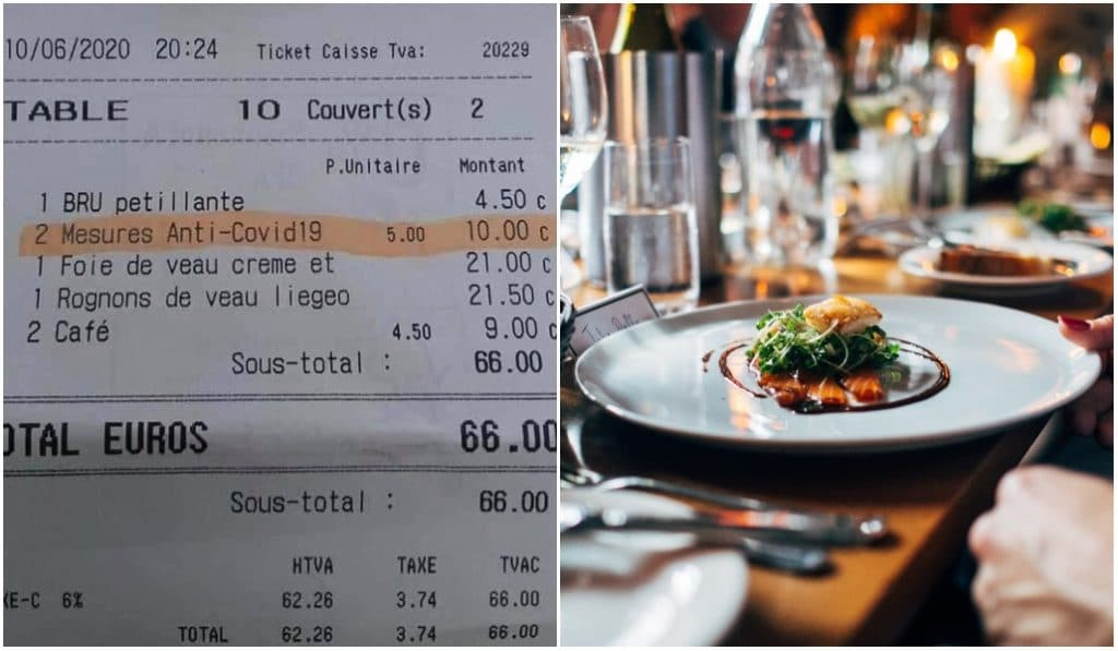 Une taxe anti-Covid de 5 euros dans un restaurant de Bruxelles !