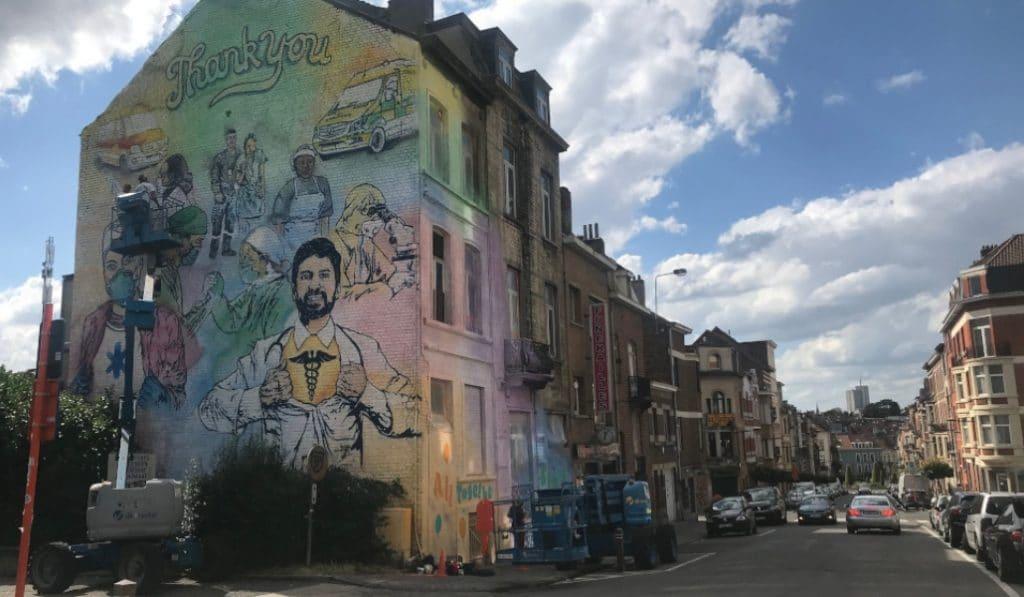Une nouvelle fresque en hommage au personnel soignant à Bruxelles !