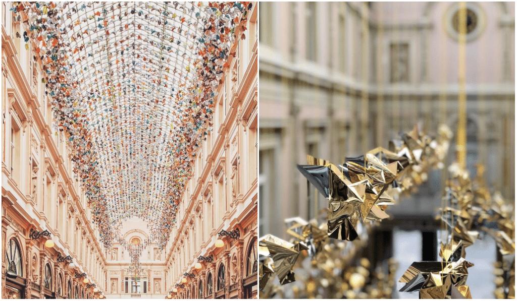 Un toit d'origamis signé Charles Kaisin aux Galeries Royales !