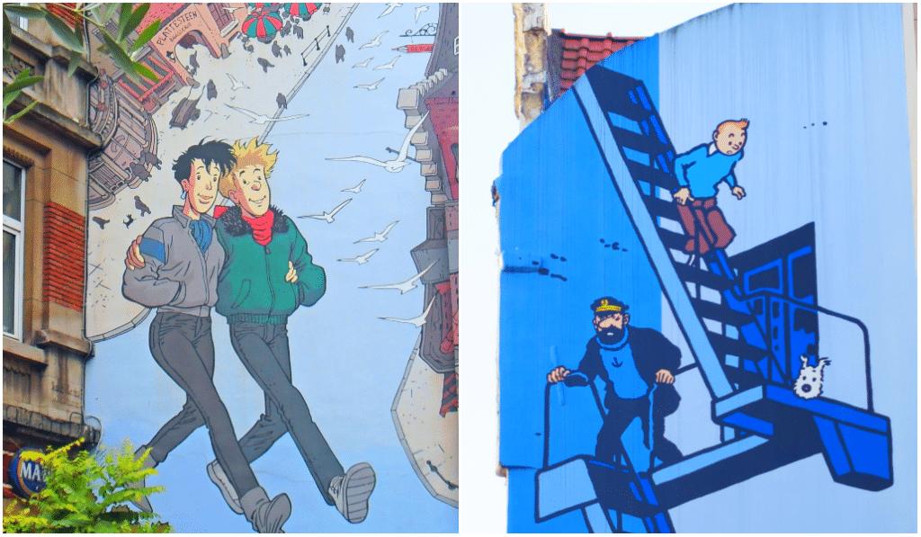 Les plus belles fresques de bande-dessinée à Bruxelles
