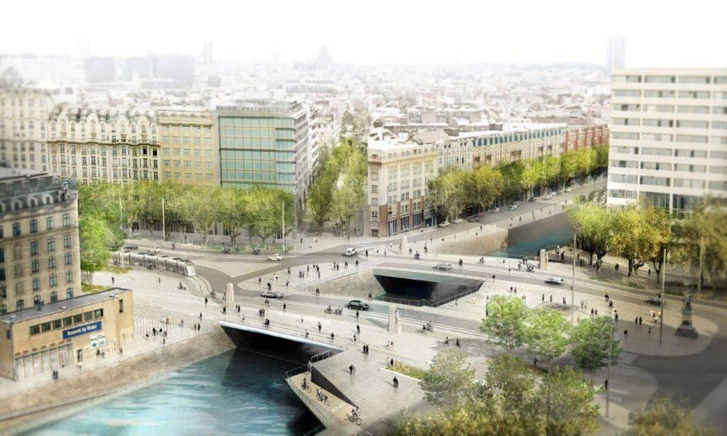 Voici ce à quoi ressemblera la Place Sainctelette en 2025