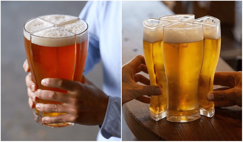 Insolite : une brasserie invente le verre à 4 bières !