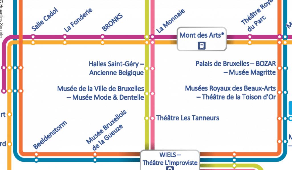 EXCLU : on a remplacé toutes les stations du métro de Bruxelles par des lieux culturels !