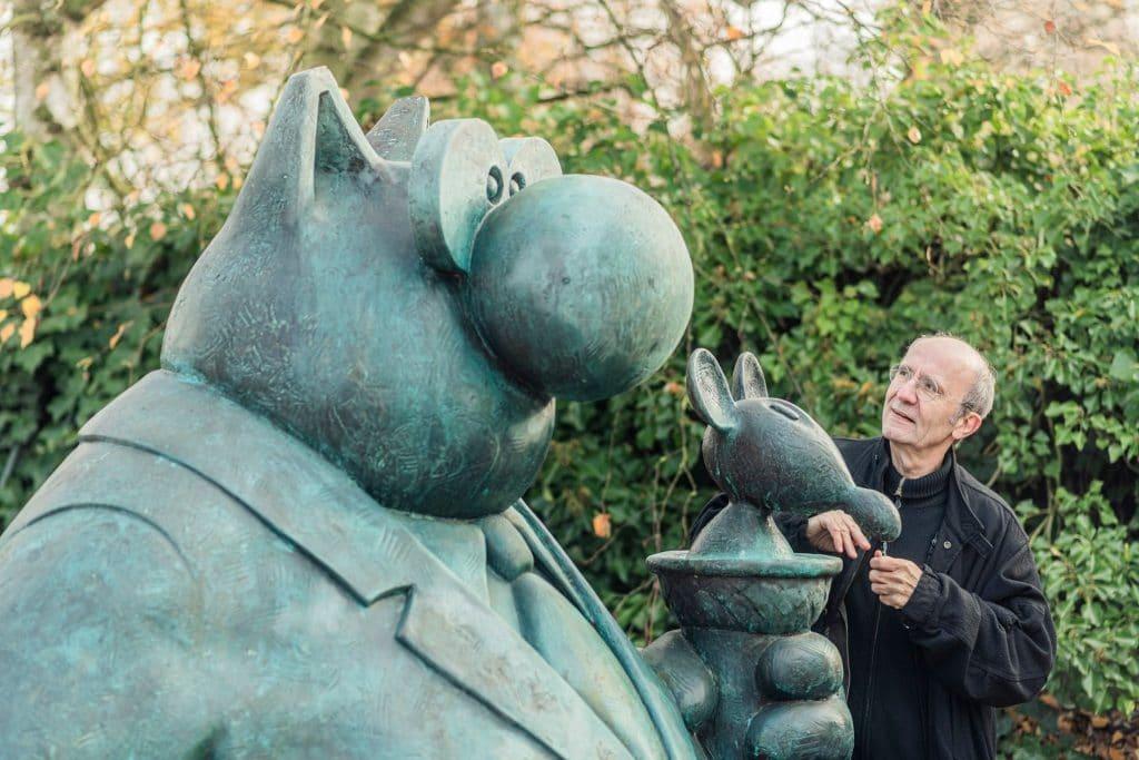 C'est confirmé : les statues iconiques du Chat de Geluck, actuellement à Paris, atterriront à Bruxelles en 2024 !