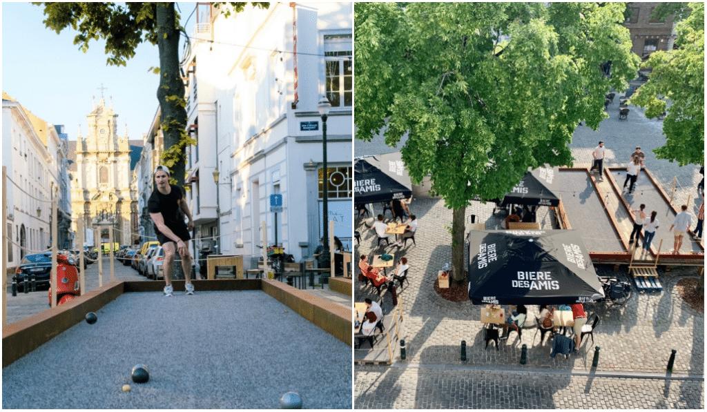 Un bar à pétanque éphémère a ouvert sur la place Sainte-Catherine !
