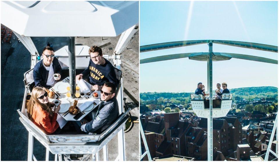 Insolite : vous allez bientôt pouvoir dîner au sommet de la Grande Roue de la place Poelaert !