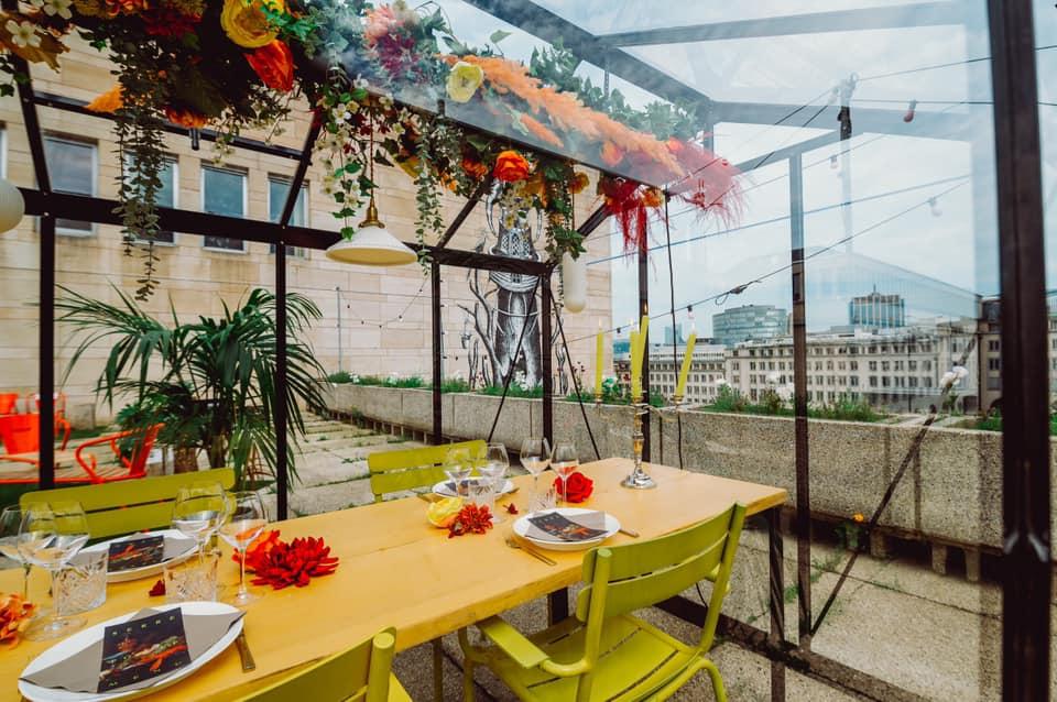 Serre Pop-Up : un incroyable micro-restaurant en serre s'installe sur le toit de la KBR en octobre !