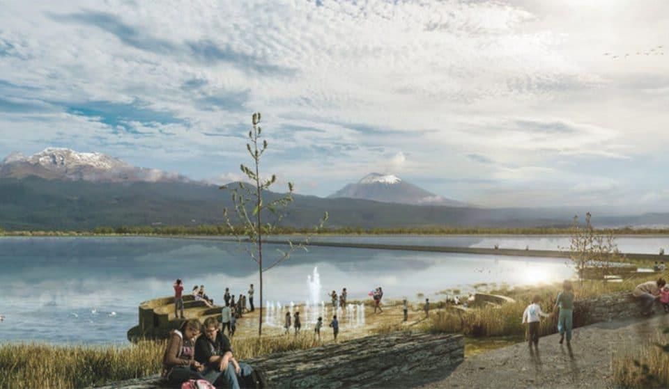 Así se verá el Lago de Texcoco cuando sea convertido en parque ecológico