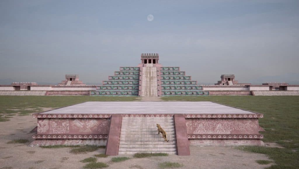Artista imagina cómo se vería Teotihuacán restaurado y a color