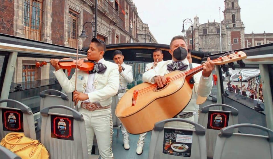 Mariachi Night Tour: recorre la ciudad a bordo de un autobús panorámico