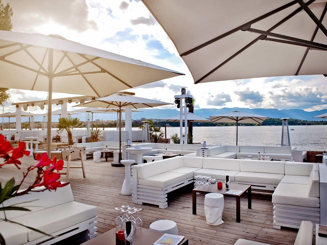 les voiles geneve plage terrasse