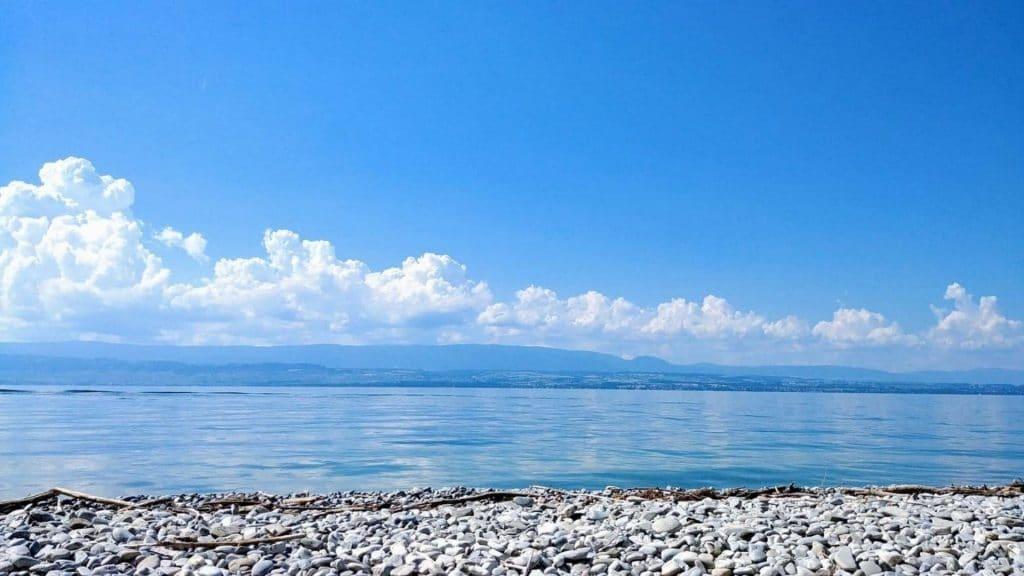 plage lac leman geneve privée