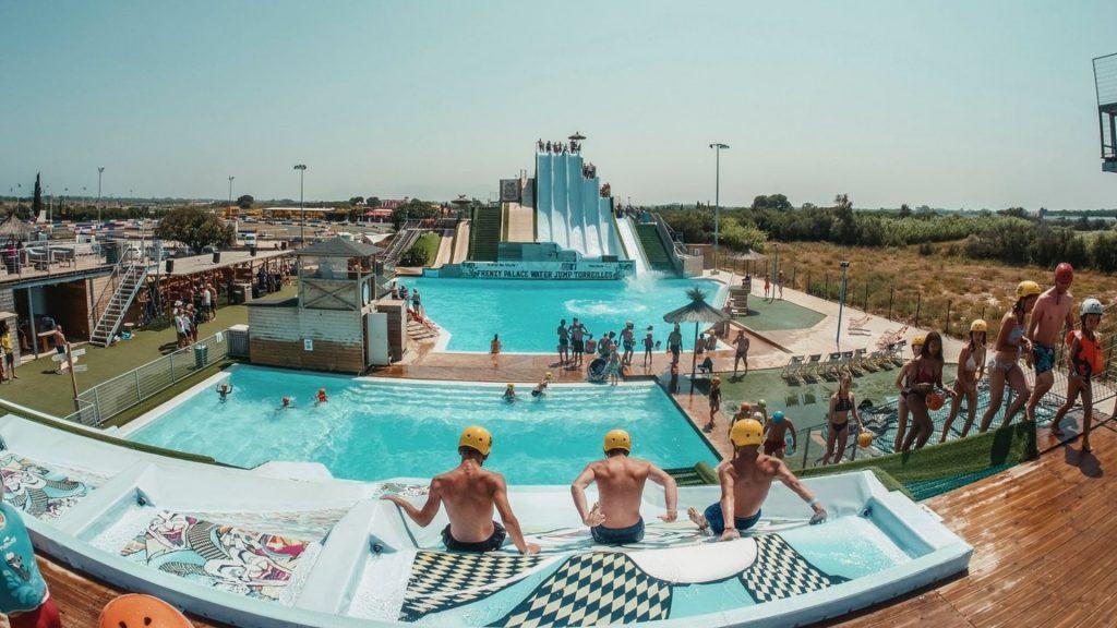 water jump salève etrembières genève été 2021