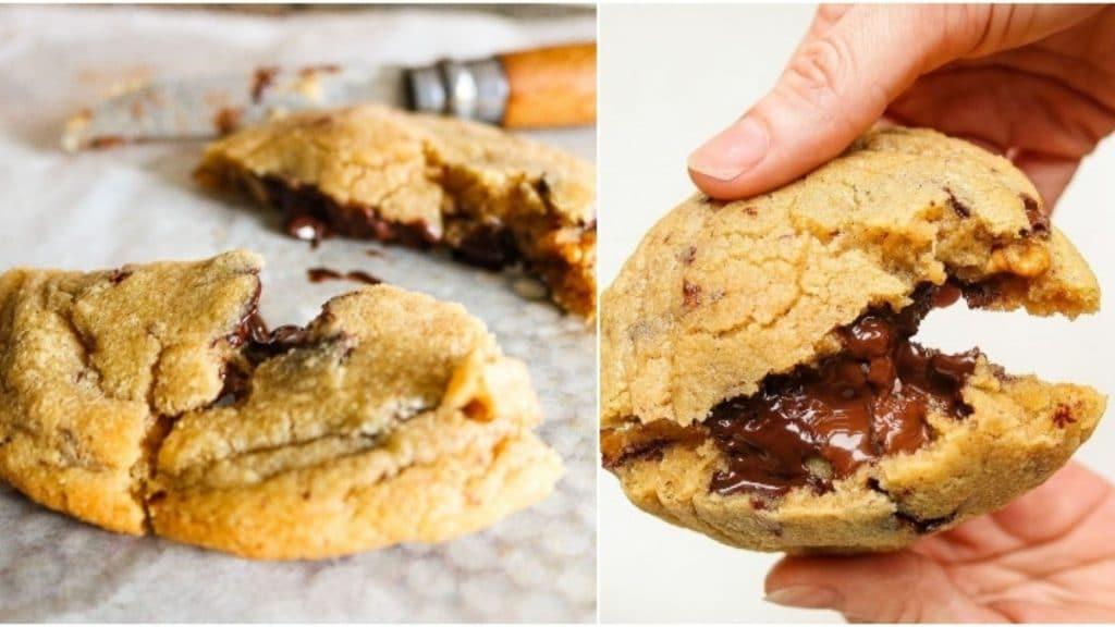 recette cookie coeur fondant chocolat