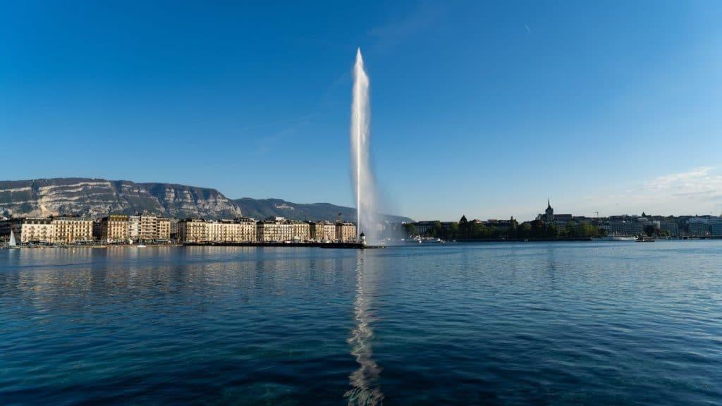 histoire de genève suisse jet d'eau canton romand