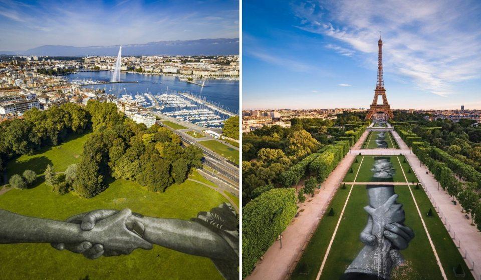Street art : en janvier 2021, SAYPE dévoile la plus grande chaîne humaine au monde !