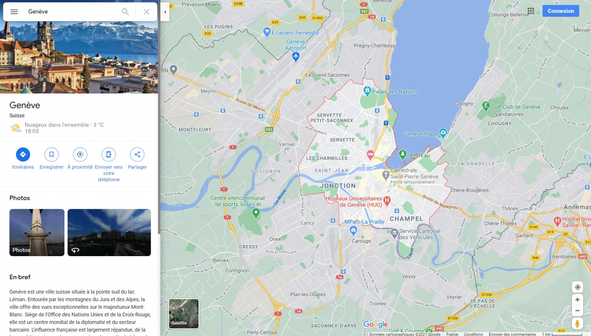 google maps erreur genève lausanne insolite carte suisse lac léman