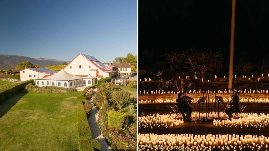 candlelight geneve open air plein air concert éclairé à la bougie musique classique domaine des bossons