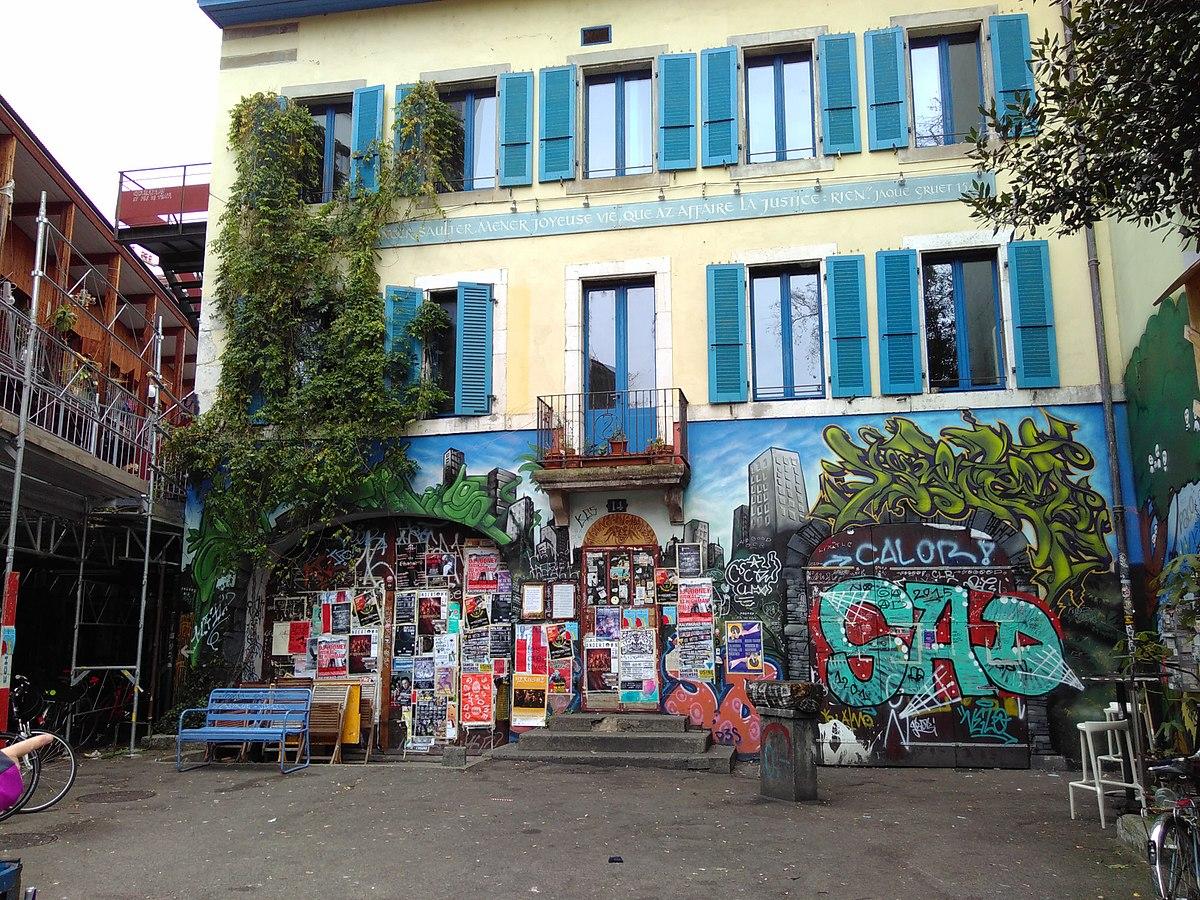 les grottes - quartier - geneve - visite - saint gervais - street art - ville - insolite - urbanisme