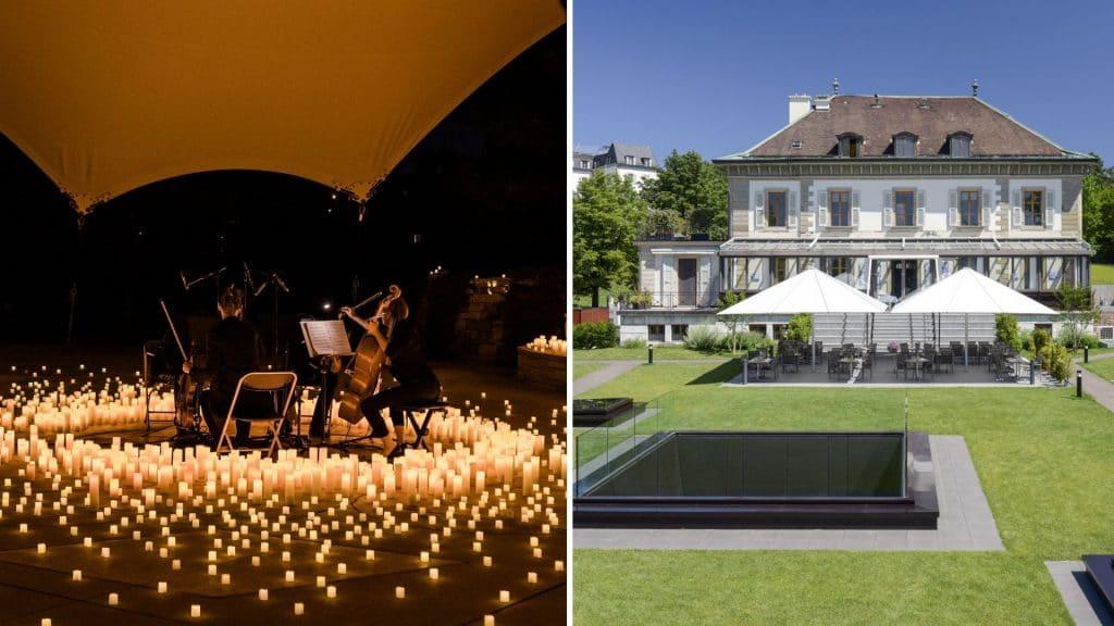 candlelight genève open air restaurant vieux bois parc ariana concert musique classique