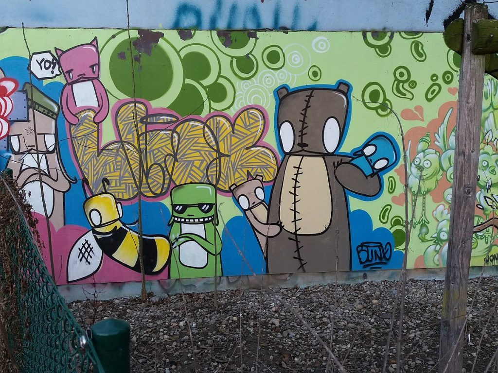 Graffiti - Genève - street art - amikal - fresque - peinture - art
