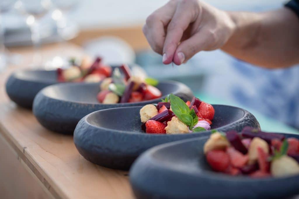 Båd by Fiskebar - The Ritz-Carlton Hotel de la Paix repas plats dégustation à l'aveugle diner dans le noir