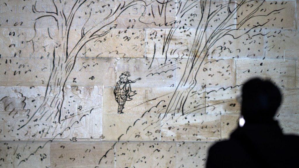 sempé dessins projetés genève murs oeuvres dessins exposition en plein air illustration