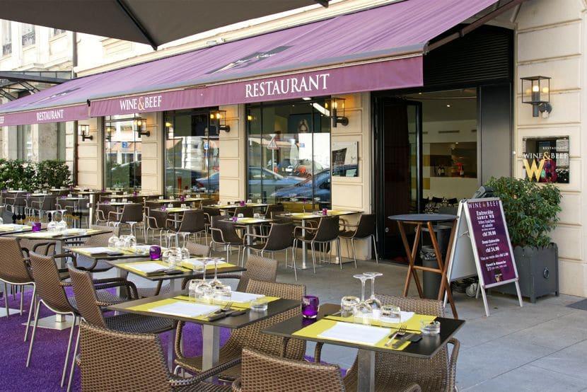 wine & beef genève restaurant terrasse viande