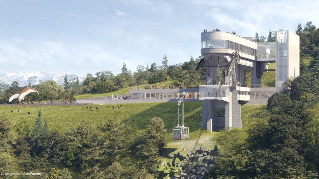 suisse salève téléphérique genève rénovation travaux fermeture