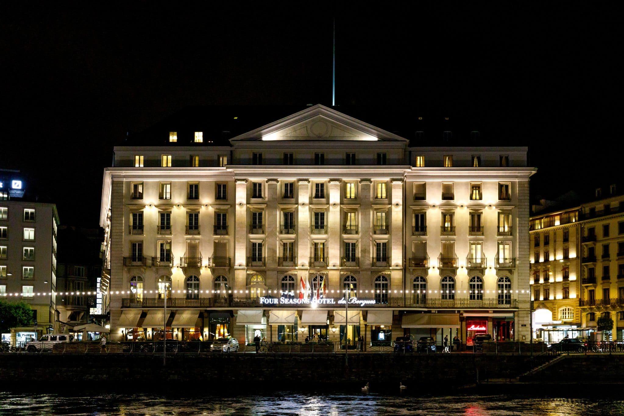 four seasons hotel des bergues genève lac léman vue concert à la bougie candlelight