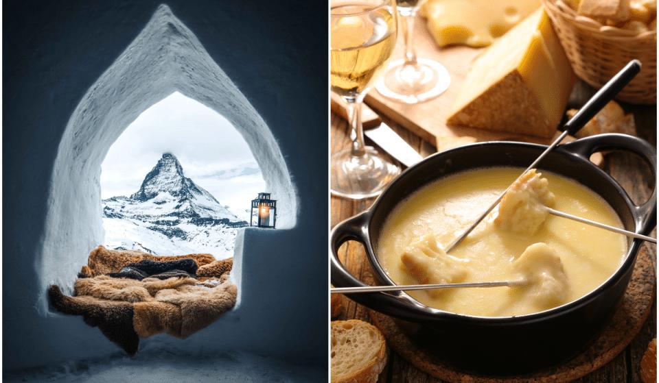 Insolite : une fondue dans un igloo au Village des Neiges !