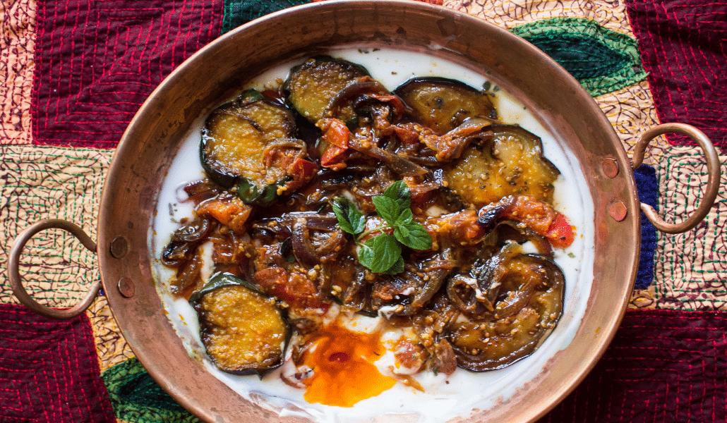 Borani aubergine