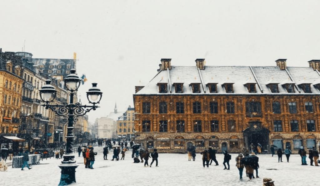 Lille a revêtu son manteau blanc : vos plus beaux clichés !
