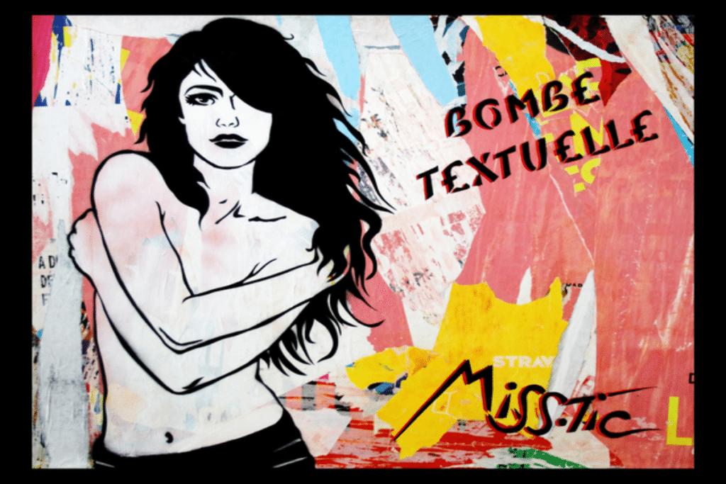 Street art : à la découverte de Miss Tic, la bombe textuelle !